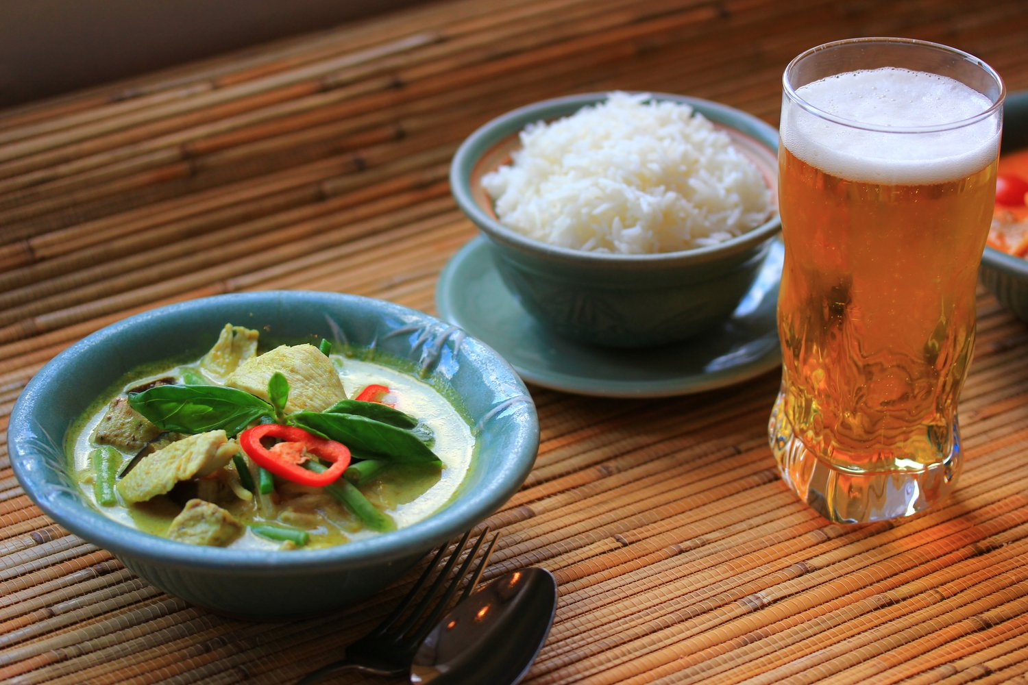 Authentic Thai Curry & Singha Thai Beer